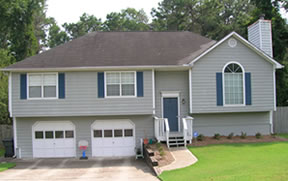 Home exterior with new roof in Augusta, GA