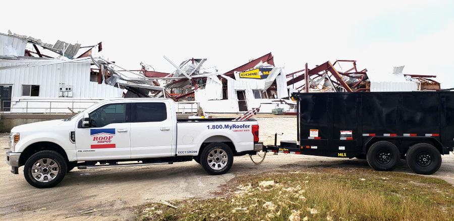 Roof Depot Helps Rebuild Marianna, FL